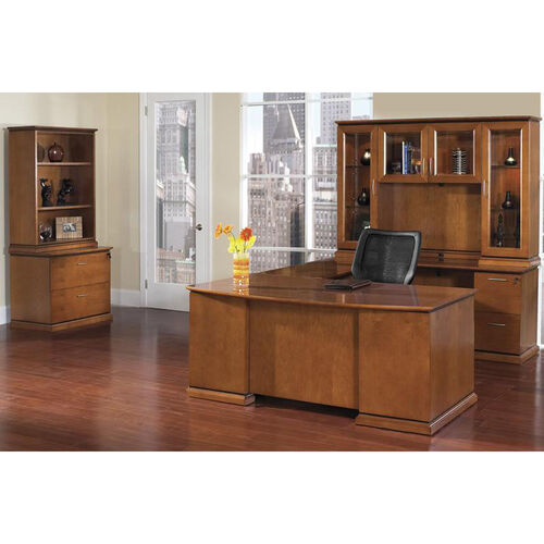 Our OSP Furniture Mendocino Hardwood Veneer U-Shaped Desk with Hutch and Storage Unit is on sale now.