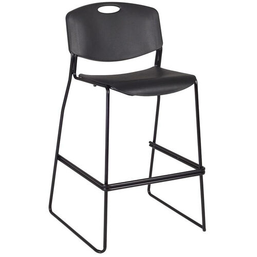 Our Zeng Armless Stackable Metal Frame Stool with Footrest - Black is on sale now.