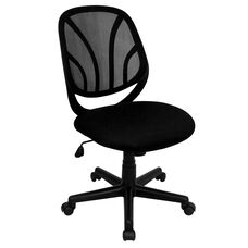 Y-GO Office Chair™ Mid-Back Black Mesh Swivel Task Office Chair