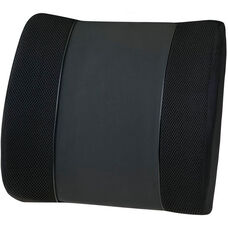 Relaxzen 3D Mesh and PU Massage Lumbar Support Cushion with Heat - Black
