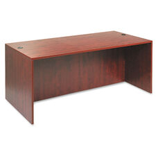 Alera® Valencia Series Straight Front Desk Shell - 71w x 35 1/2d x 29 1/2h - Med Cherry