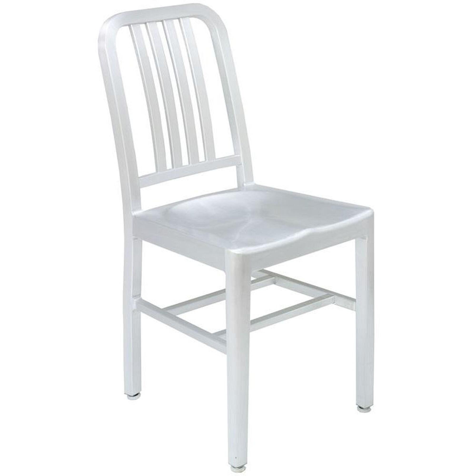 Terrific Outdoor Aluminum Armless Side Chair Silver Inzonedesignstudio Interior Chair Design Inzonedesignstudiocom