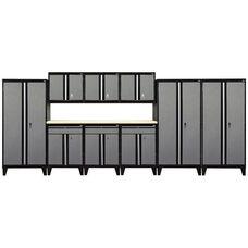 Modular Storage System with Legs - 10 Piece Set - Black and Granite