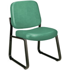 Anti-Microbial and Anti-Bacterial Vinyl Guest and Reception Chair - Teal