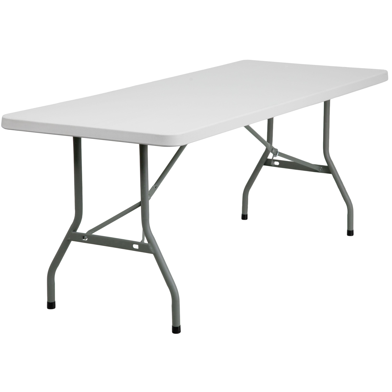 30u0027u0027W X 72u0027u0027L Granite White Plastic Folding Table