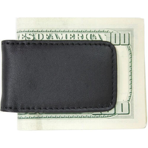 Our Magnetic Money Clip - Top Grain Nappa Leather with Suede Lining - Black is on sale now.
