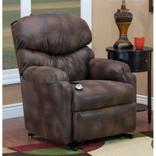 Space Saving Wall-A-Way Comfort Lounger Reclining Power Lift Chair with Matching Full Chaise Pad - Vista Saddle Fabric