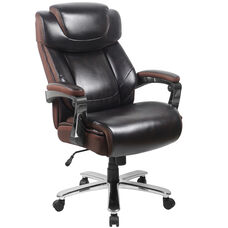 HERCULES Series Big & Tall 500 lb. Rated Brown Leather Executive Swivel Ergonomic Office Chair with Adjustable Headrest