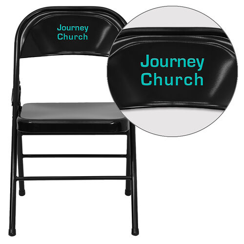 Our Personalized HERCULES Series Triple Braced & Double Hinged Metal Folding Chair is on sale now.