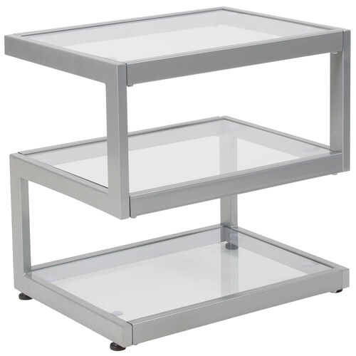 Our Ashmont Collection Glass End Table with Contemporary Steel Design is on sale now.