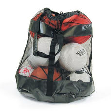 Mesh Fabric Vinyl Bottom Ball Carrier with Shoulder Strap