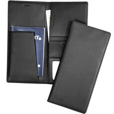 RFID Blocking Passport Sleeve - Top Grain Nappa Leather - Black