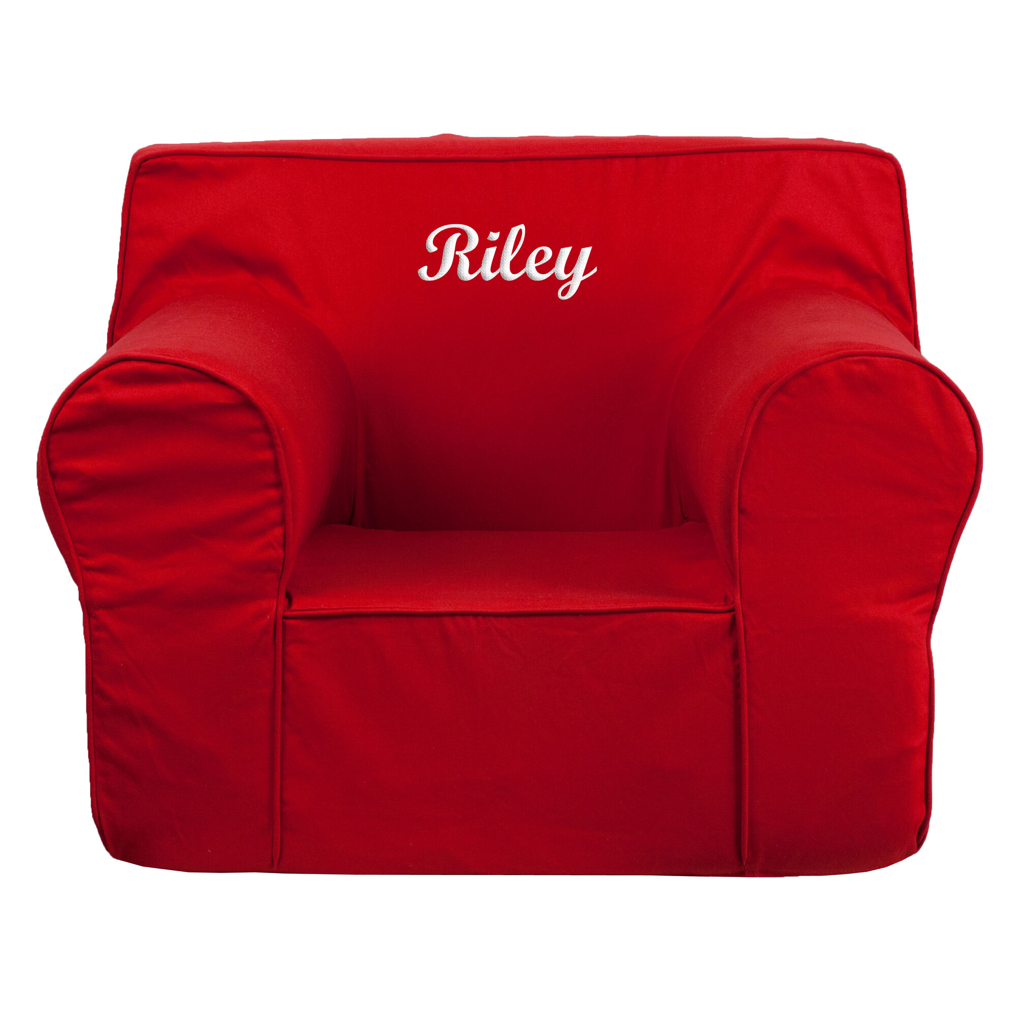 Flash Furniture DG LGE CH KID SOLID RED EMB GG at Bizchair
