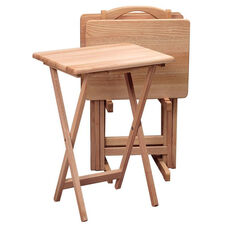 5-Pc Solid Wood TV Table Set