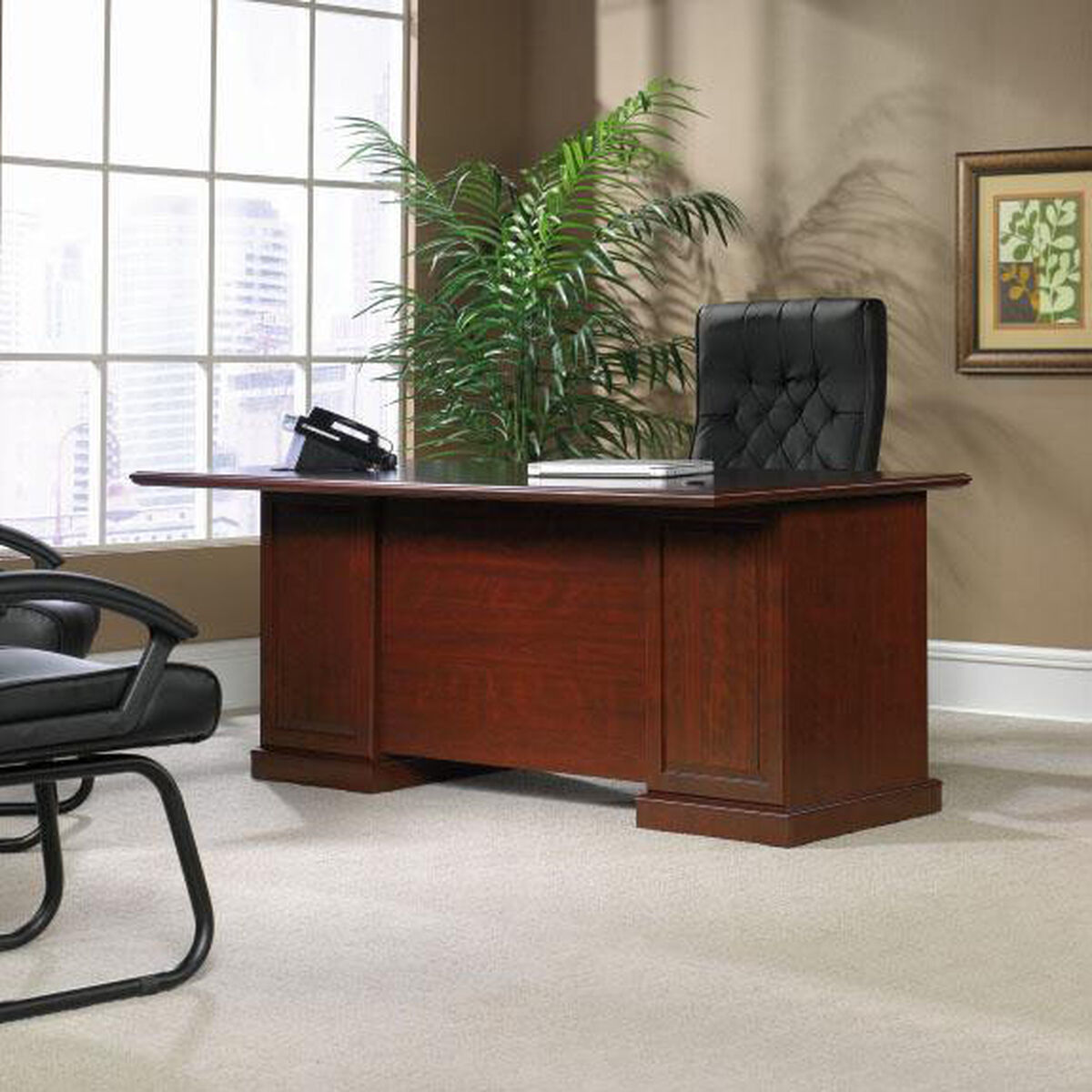 Our Heritage Hill 70 5 W Executive Desk With Locking Drawers Classic Cherry Is