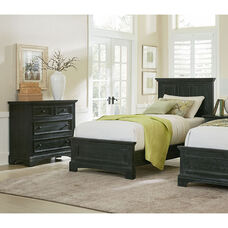 Inspired By Bassett Farmhouse Basics Twin Bed Set with Chest and Nightstand