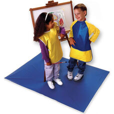 Heavy Duty Vinyl Easy Clean Mess Mat - Blue