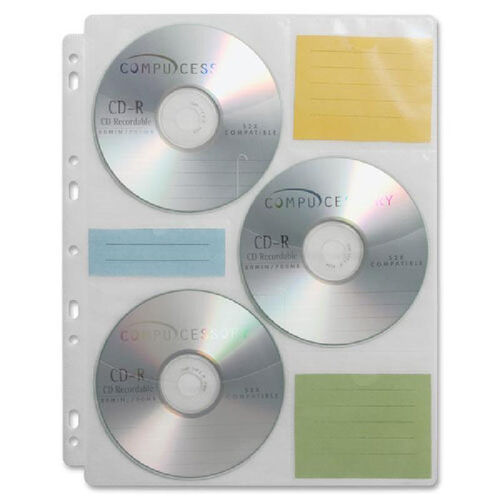 Our Compucessory Cd/Dvd Ring Binder Storage Pages - Pack Of 25 is on sale now.