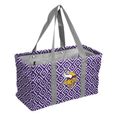 Minnesota Vikings Team Logo Double Diamond Picnic Carry All Caddy
