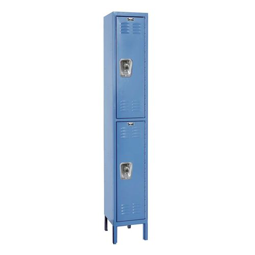 Ready-Built One Wide Double Tier - Assembled Locker with Locks