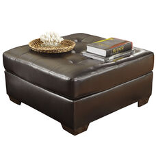 Signature Design by Ashley Alliston Oversized Ottoman in Chocolate Faux Leather