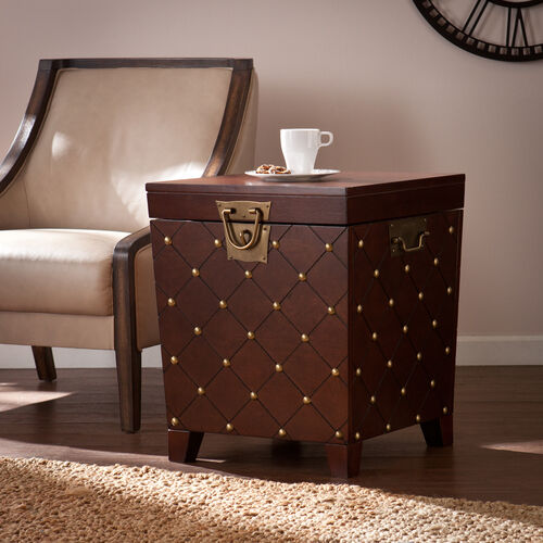 Our Nailhead End Table Trunk - Espresso is on sale now.