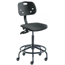 Quick Ship ArmorSeat Series Chair with UV Inhibitor and Tubular Steel Base - Low Seat Height