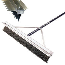 Powder Coated Aluminum Infield Lip Bristle Broom