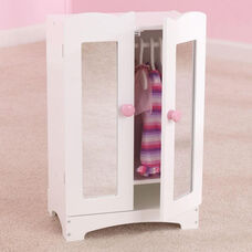 Lil Doll Wooden Armoire with Six Hangers for up to 19