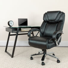 HERCULES Series Big & Tall 500 lb. Rated Black LeatherSoft Executive Swivel Ergonomic Office Chair with Extra Wide Seat