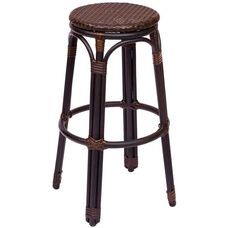 Marina Backless Barstool - Synthetic Wicker