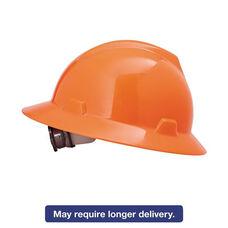 MSA V-Gard Hard Hats - Ratchet Suspension - Size 6 1/2 - 8 - High-Viz Orange