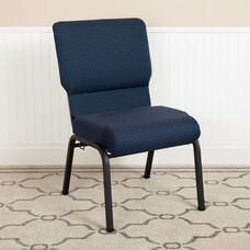 Advantage 20.5 in. Cobalt Molded Foam Church Chair with Book Rack