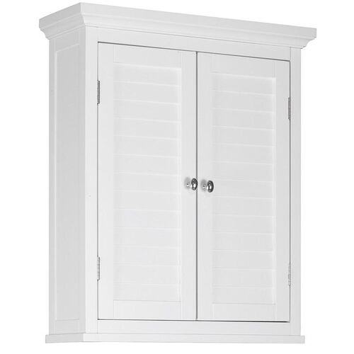 Slone Wall Cabinet Two Shutter Doors - White