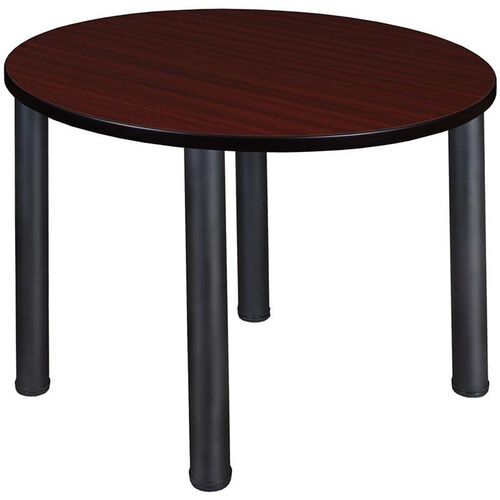 Our Kee Round Laminate Breakroom Table with PVC Edge - Black Legs is on sale now.