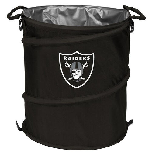 Our Oakland Raiders Team Logo Collapsible 3-in-1 Cooler Hamper Wastebasket is on sale now.
