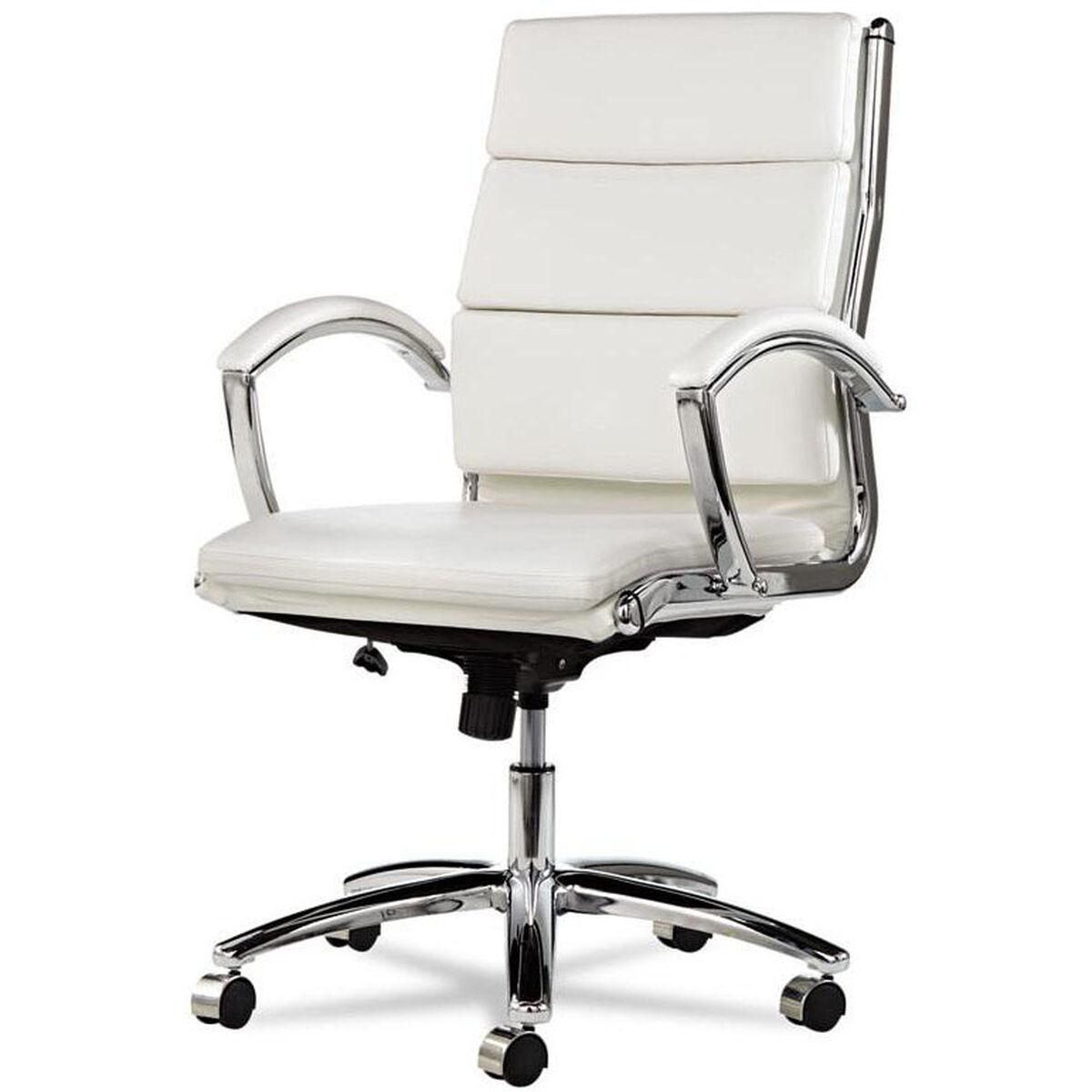 Faux Leather Mid Back Chair White Alenr4206 Bizchair Com
