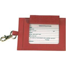 Luxury Big Luggage Tag - Top Grain Nappa Leather - Red