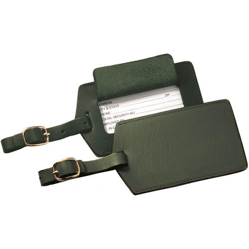Our Luggage Tag - Top Grain Nappa Leather - Green is on sale now.