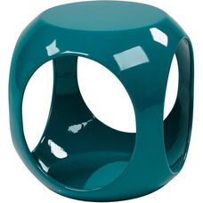 Ave Six Slick Modern Cube Occasional Table - Blue