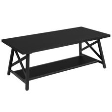Hancock Park Collection Rustic Espresso Wood Finish Coffee Table