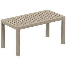Ocean Outdoor Resin Rectangle Coffee Table - Dove Gray