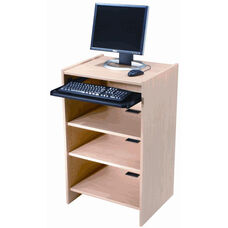 Eco-Friendly Computer Station with Adjustable Shelf