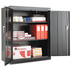 Alera® Assembled 42'' High Storage Cabinet - w/Adjustable Shelves - 36w x 18d - Black