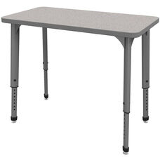 Apex Series Height Adjustable Rectangular Activity Table - Gray Nebula Top with Gray Edge and Legs - 36