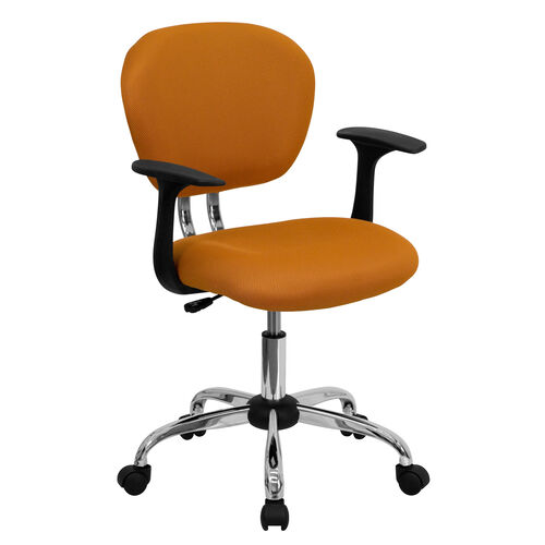 Our Mid-Back Orange Mesh Padded Swivel Task Office Chair with Chrome Base and Arms is on sale now.