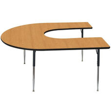 High Pressure Horseshoe Shaped Activity Table with Lotz Armor Edge - 60