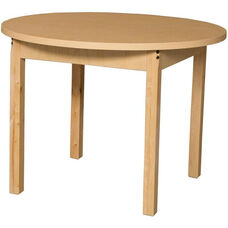 Round High Pressure Laminate Table with Hardwood Legs - 36