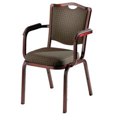 Burgess Como Premium Comfort Banquet Stacking Arm Chair with Crown Back