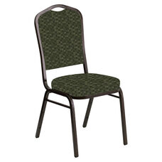 Crown Back Banquet Chair in Empire Fern Fabric - Gold Vein Frame